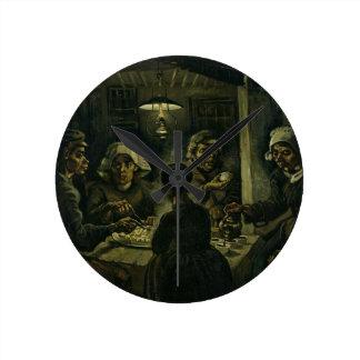 Horloge Ronde Les mangeurs de pomme de terre