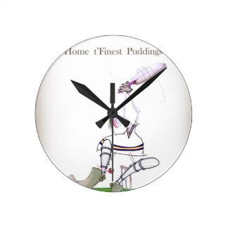 Horloge Ronde Les puddings les plus fins de cricket de Yorkshire