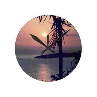 Horloge Ronde Lever de soleil de Koolan