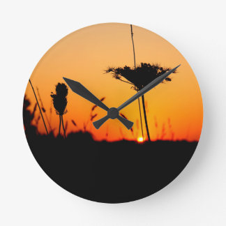 Horloge Ronde Lever de soleil tôt