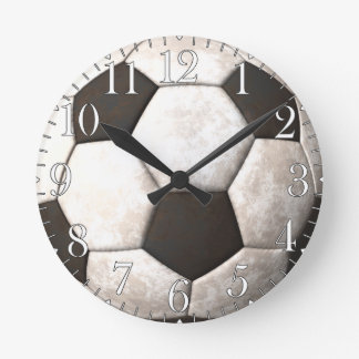 Horloge Ronde L'horloge des Sport-amants de ballon de football d