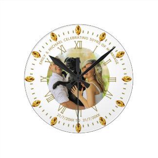 Horloge Ronde L'horloge faite sur commande élégante de PHOTO