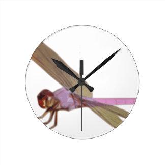 Horloge Ronde Libellule