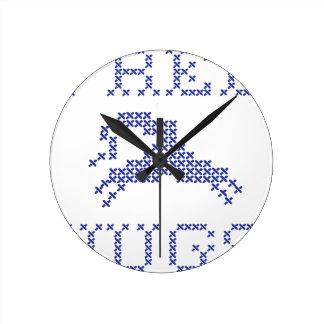 Horloge Ronde Libérez les étreintes étrangères
