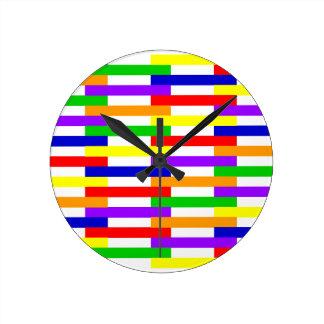 Horloge Ronde Ligne multicolore conception