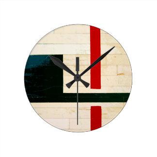 Horloge Ronde Lignes et inscriptions de terrain de basket