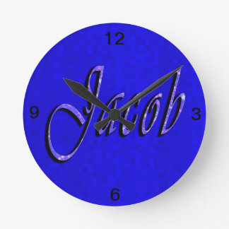 Horloge Ronde Logo nommé de Jacob,