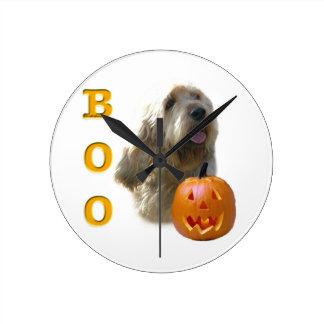 Horloge Ronde L'Otterhound Halloween HUENT