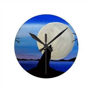 Horloge Ronde Loup