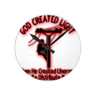 Horloge Ronde Lumière créée par Dieu - bible drôle, conception