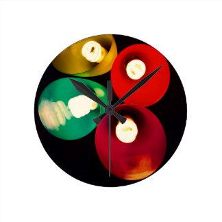 Horloge Ronde Lumières colorées géniales modernes
