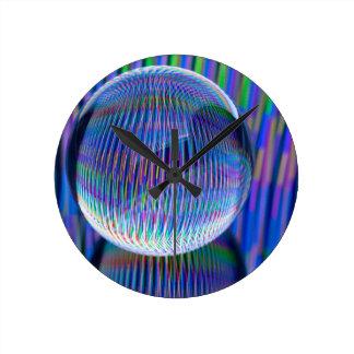 Horloge Ronde Lumières multi dans le globe2