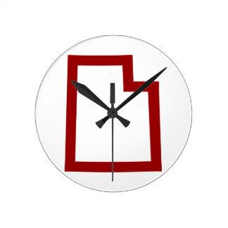 Horloge Ronde L'Utah (rouge)