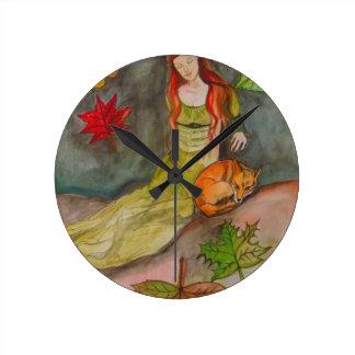 Horloge Ronde Madame et le Fox
