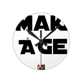 Horloge Ronde MAKI ÂGE - Jeux de mots - Francois Ville