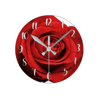 Horloge Ronde Mariage élégant fascinant blanc rustique moderne