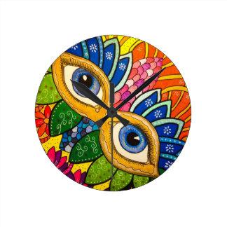 Horloge Ronde Masque vénitien