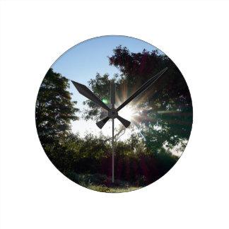 Horloge Ronde Matin d'île de pays