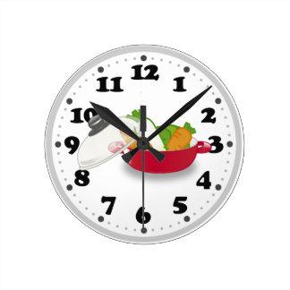 Horloge Ronde Meilleurs cadeaux mignons de la cuisine |