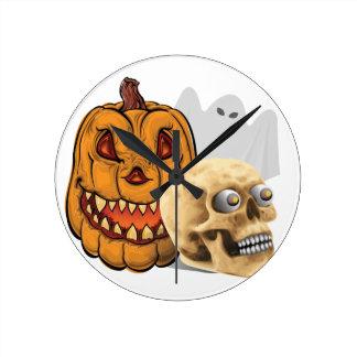 Horloge Ronde Mélange de Halloween