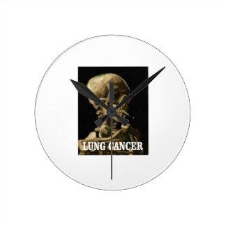 Horloge Ronde mises à mort de cancer de poumon