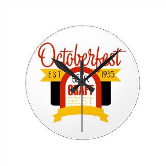Horloge Ronde Modèle de conception de logo d'Oktoberfest