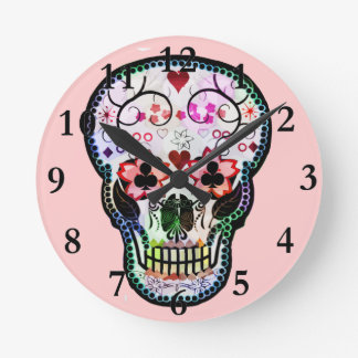 Horloge Ronde Mon crâne mexicain