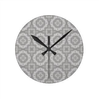 Horloge Ronde motif 8773Grey
