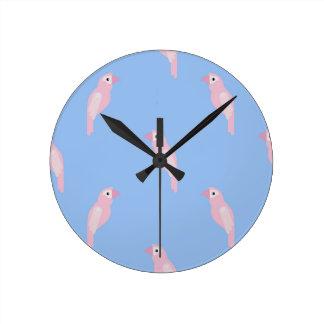 Horloge Ronde Motif coloré sans couture de vecteur d'arums de