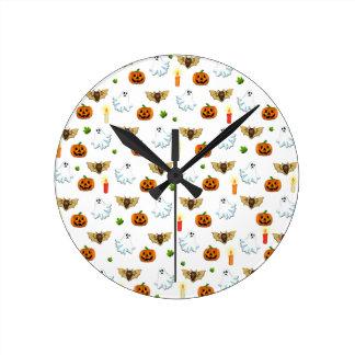 Horloge Ronde Motif de Halloween