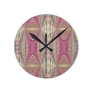 Horloge Ronde Motif rose bronzage frais génial de FeminineTribal