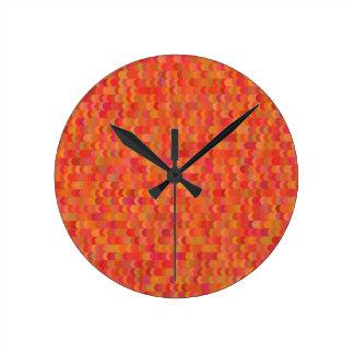 Horloge Ronde motif rouge
