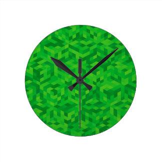 Horloge Ronde motif vert