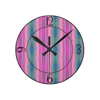 Horloge Ronde Musique rose