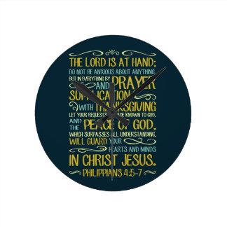 Horloge Ronde Ne soyez pas - 4:5 de Philippiens - 7 soucieux