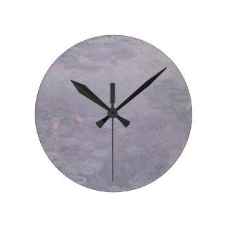 Horloge Ronde Nénuphars de couleur claire de Claude Monet |