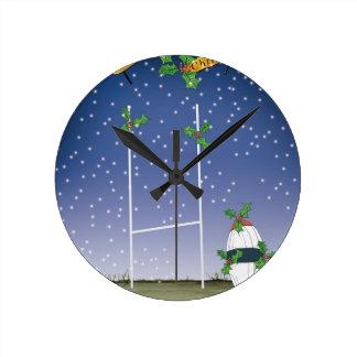 Horloge Ronde Noël de rugby