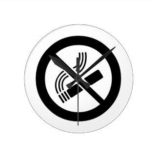 Horloge Ronde Non-fumeurs