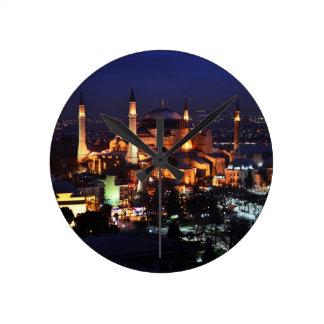 Horloge Ronde Nuit de Hagia Sophia