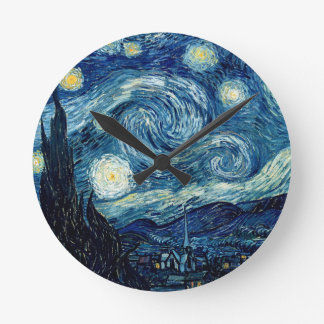 Horloge Ronde Nuit étoilée par Vincent van Gogh