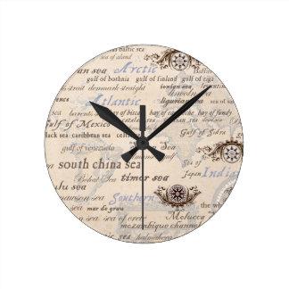 Horloge Ronde océans par les fernandes élégants