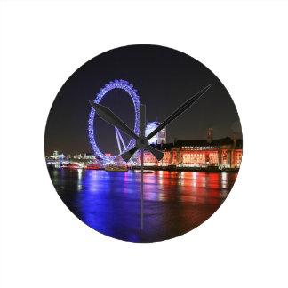 Horloge Ronde Oeil de Londres la nuit