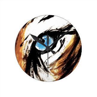 Horloge Ronde Oeil de tigre de Bengale