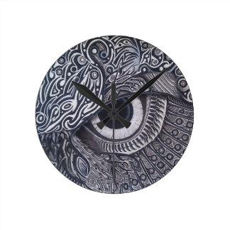 Horloge Ronde Oeil tribal jamais de finition de hibou