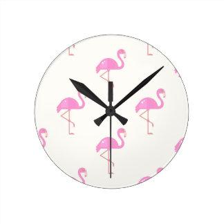 Horloge Ronde Oiseau de flamant