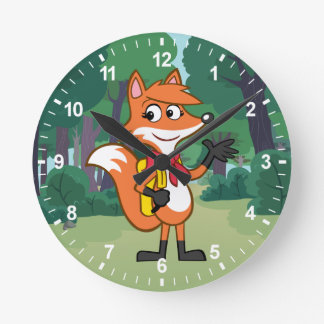 Horloge Ronde Ondulation de Fox de Rick | Scarlett de garde