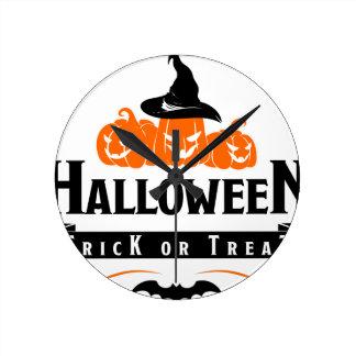 Horloge Ronde Partie de des bonbons ou un sort de Halloween
