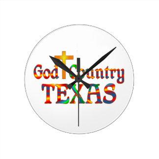 Horloge Ronde Pays le Texas de Dieu
