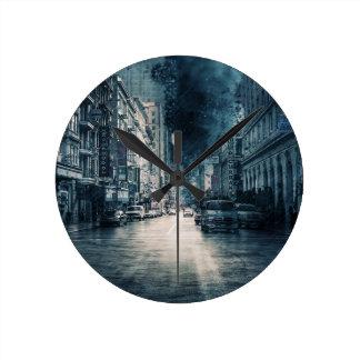 Horloge Ronde Paysage urbain orageux