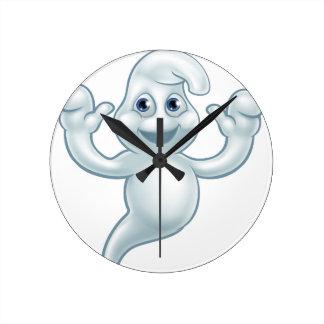 Horloge Ronde Personnage de dessin animé mignon de fantôme de